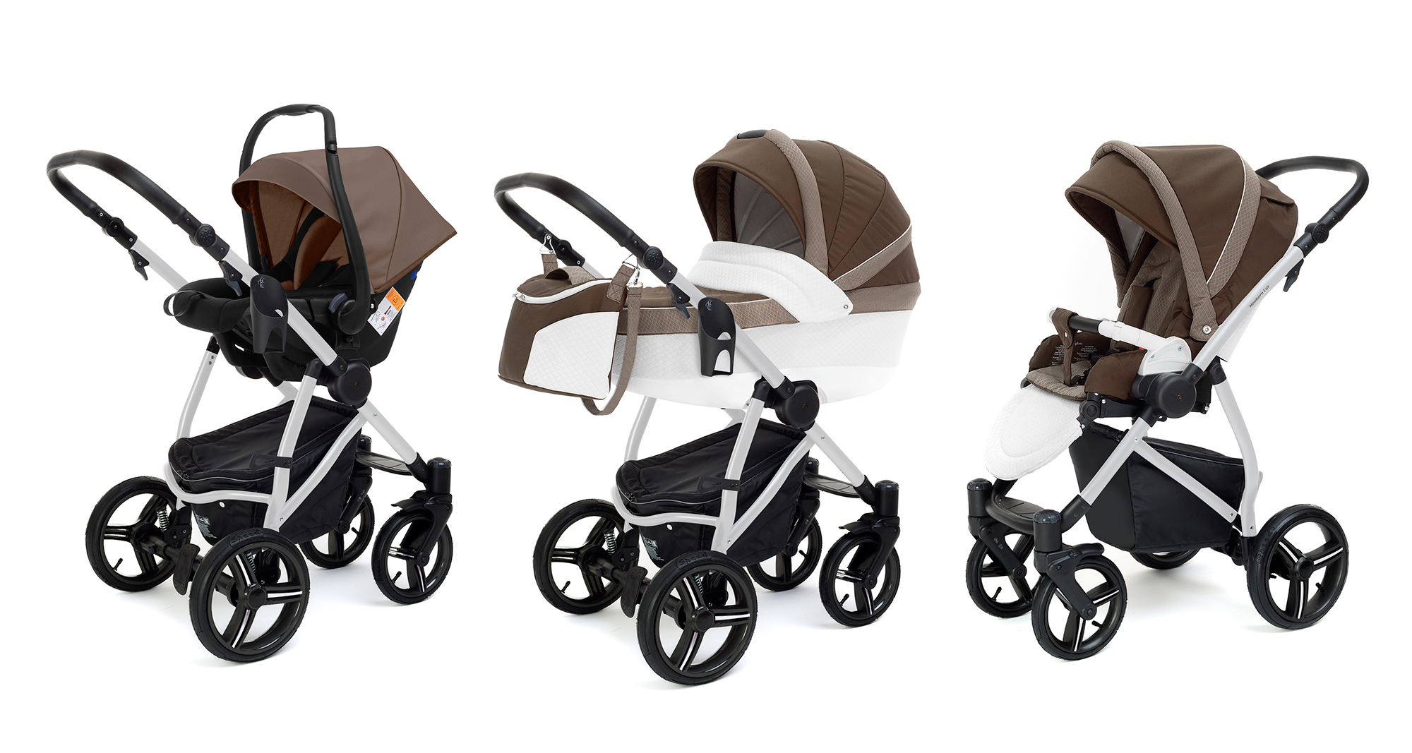 Коляска 3 в 1 Esspero Grand Newborn Lux (шасси Grey) Royal Brown