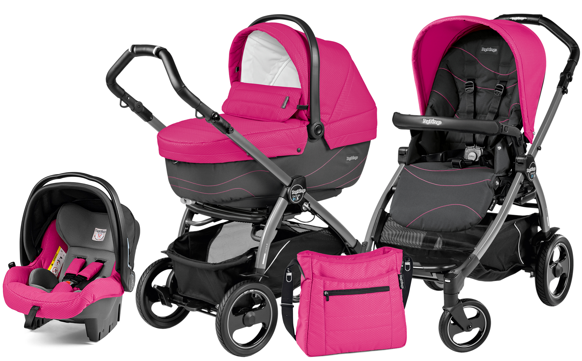 Коляска 3 в 1 Peg Perego Book 51 S XL Set Modular (шасси Jet)