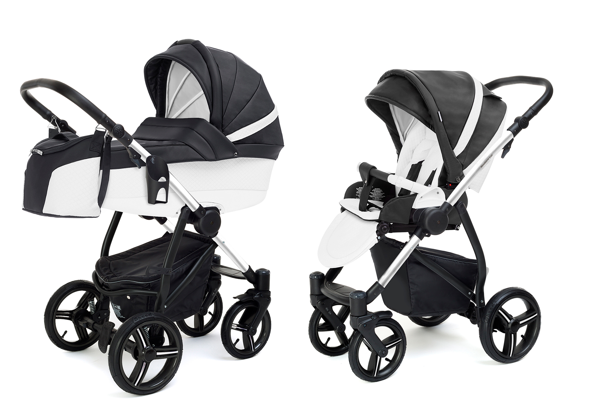 Коляска 2 в 1 Esspero Grand Newborn Lux (шасси Chrome) Nappa Graphite