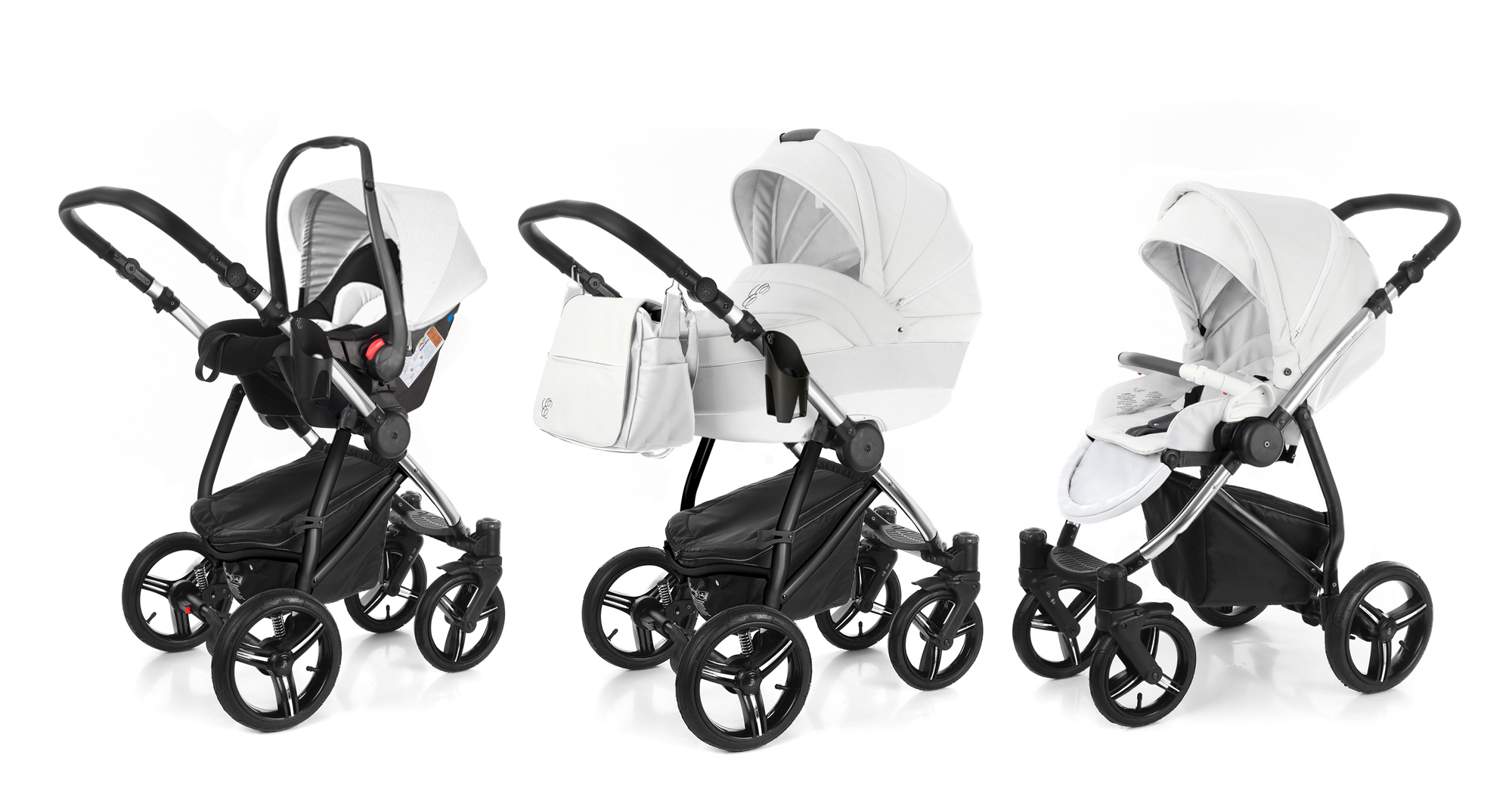 Коляска 3 в 1 Esspero Grand Newborn Lux (шасси Chrome) Argtic leatherette