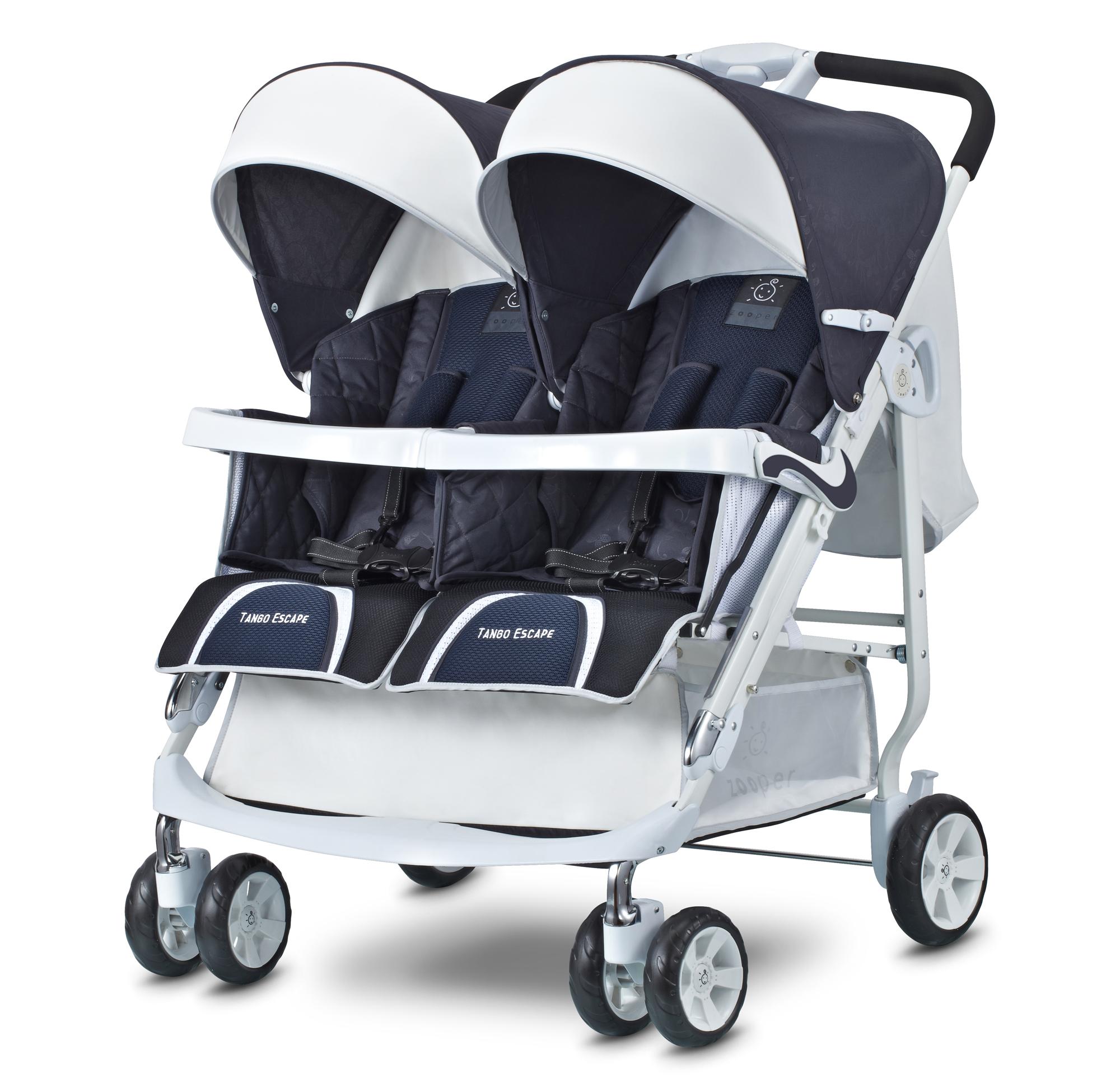 Детская коляска для двойни Zooper Tango Escape купить с доставкой - цена, фото, видео, отзывы на Kidiki.ru