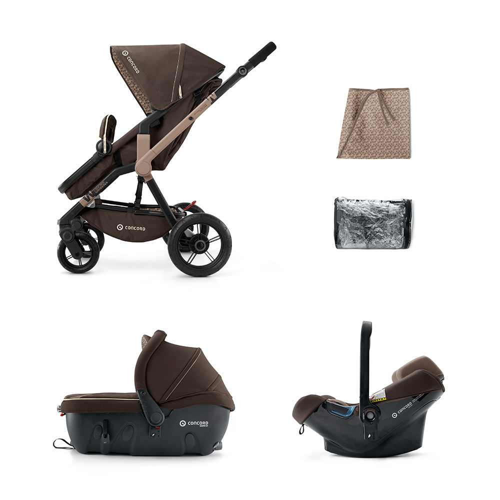 Concord Wanderer Travel Set Air Chocolate Brown