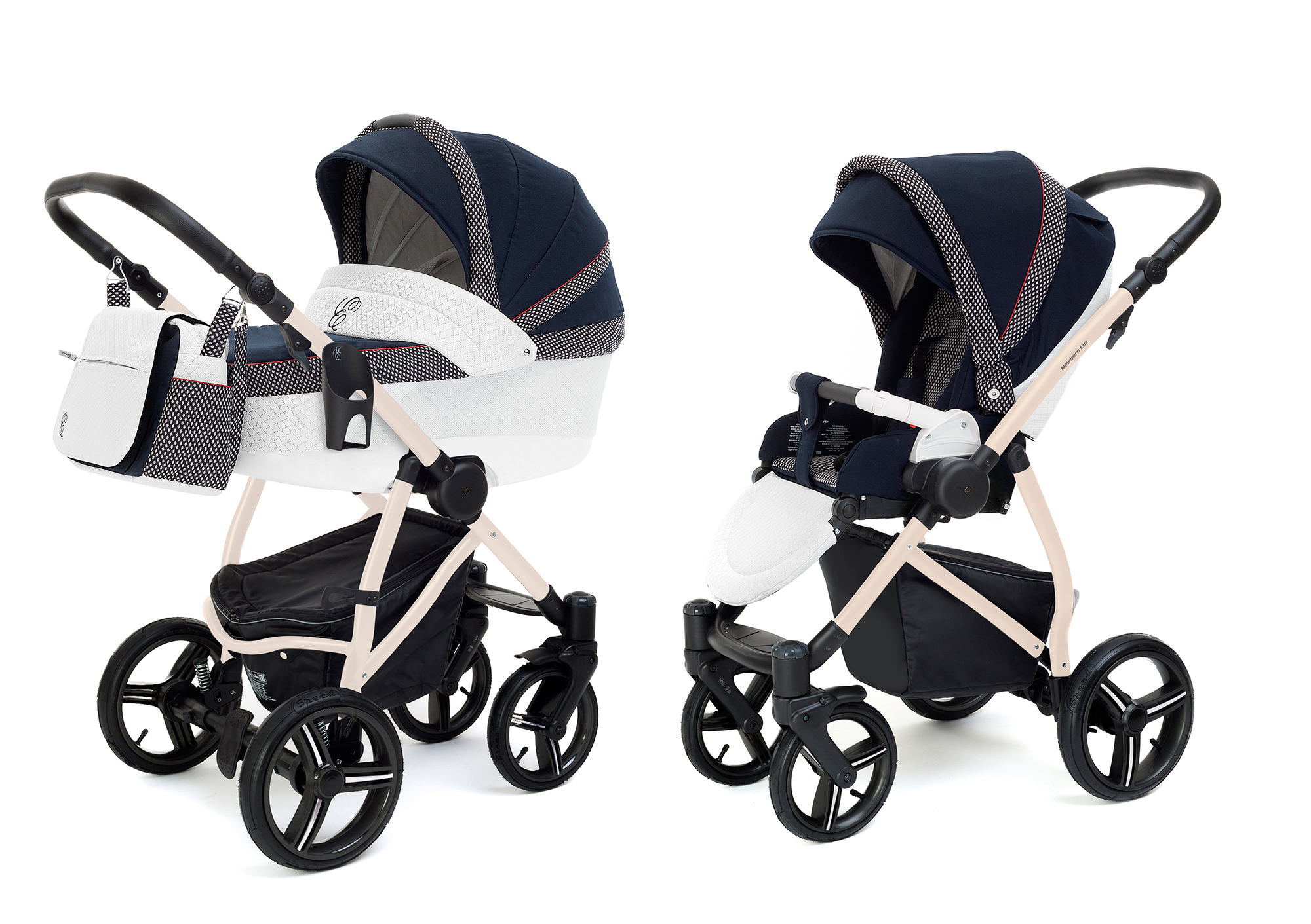 Коляска 2 в 1 Esspero Grand Newborn Lux (шасси Beige) Royal Deep Ocean