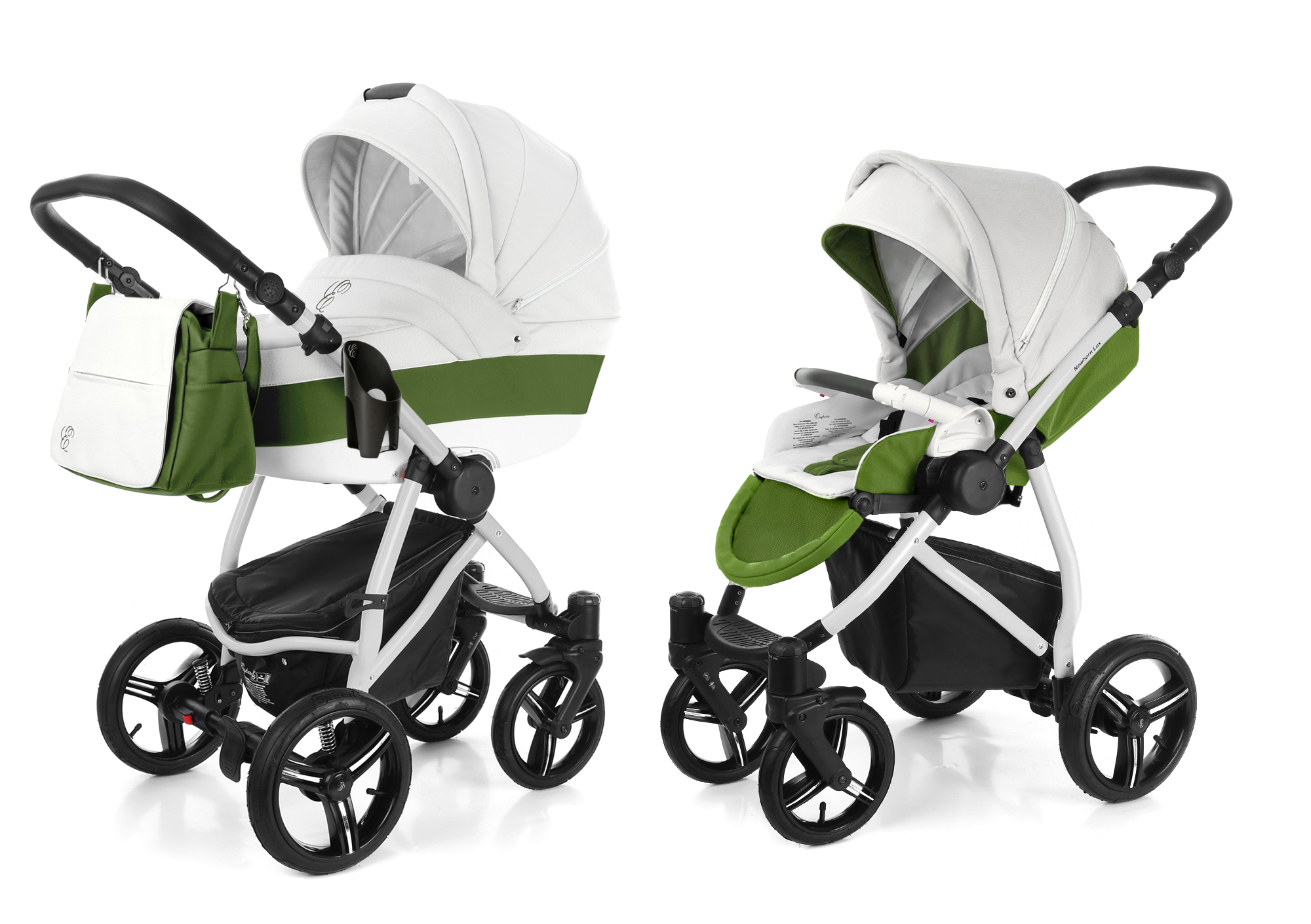 Коляска 2 в 1 Esspero Grand Newborn Lux (шасси Grey) Apple leatherette