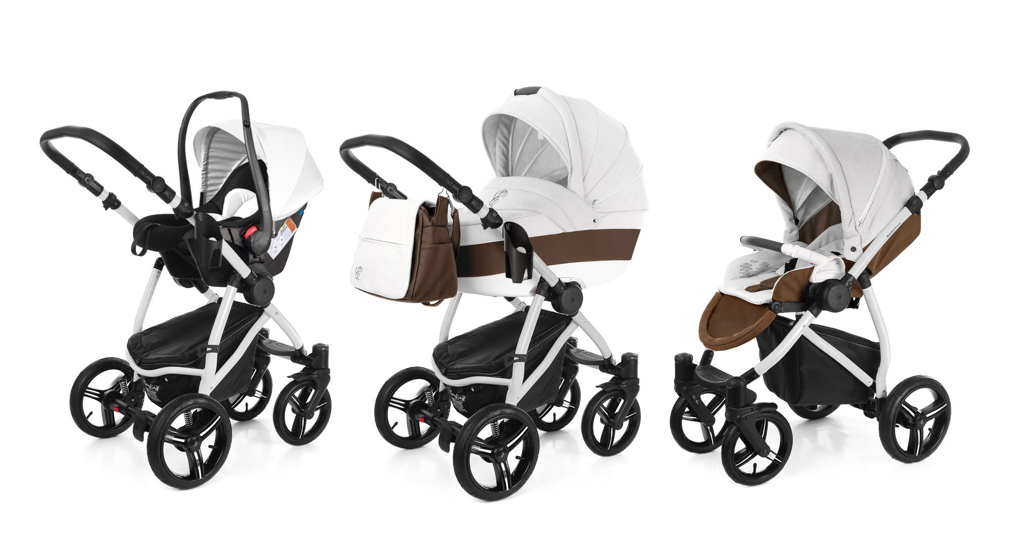 Коляска 3 в 1 Esspero Grand Newborn Lux (шасси Grey) Canella leatherette