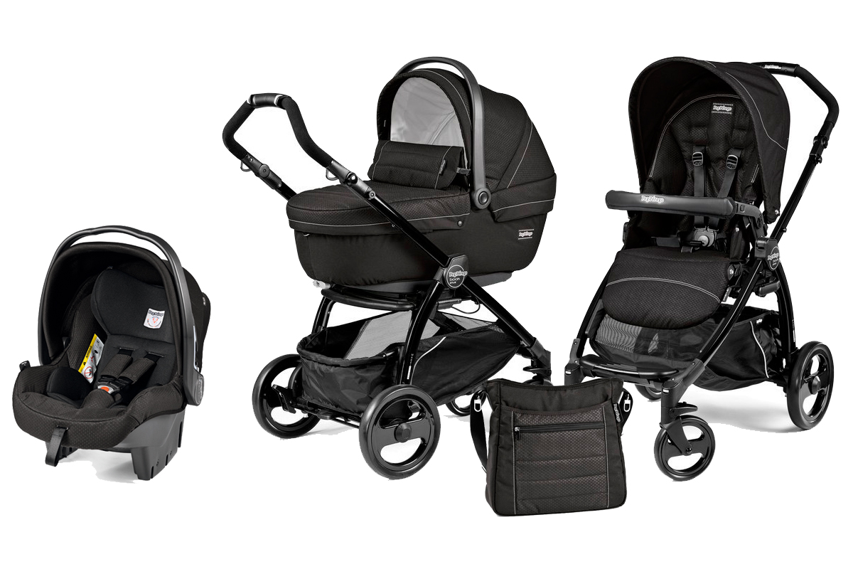 Коляска 3 в 1 Peg Perego Book Plus XL Set Modular Mod Black