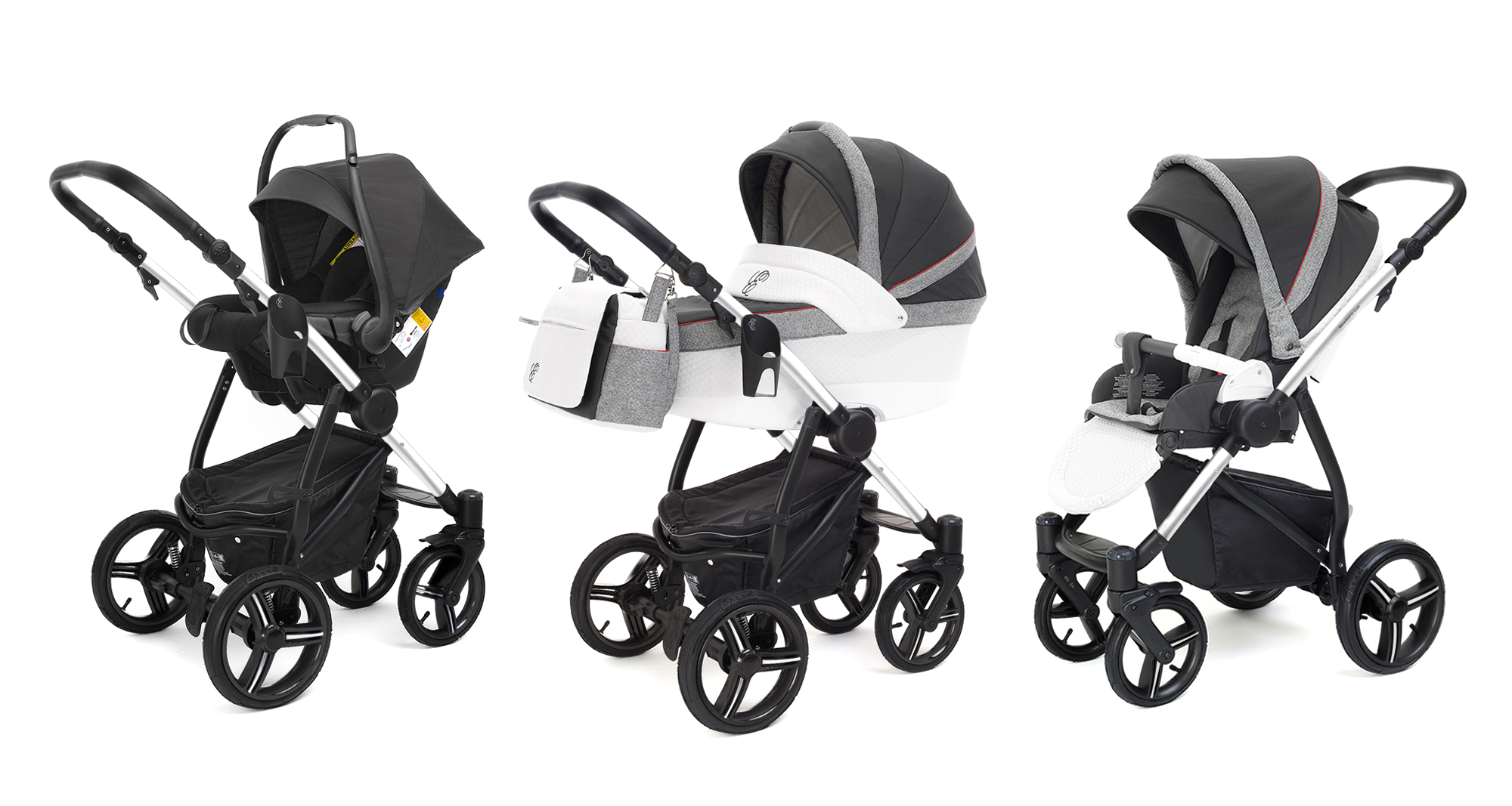 Коляска 3 в 1 Esspero Grand Newborn Lux (шасси Chrome) Royal Grey