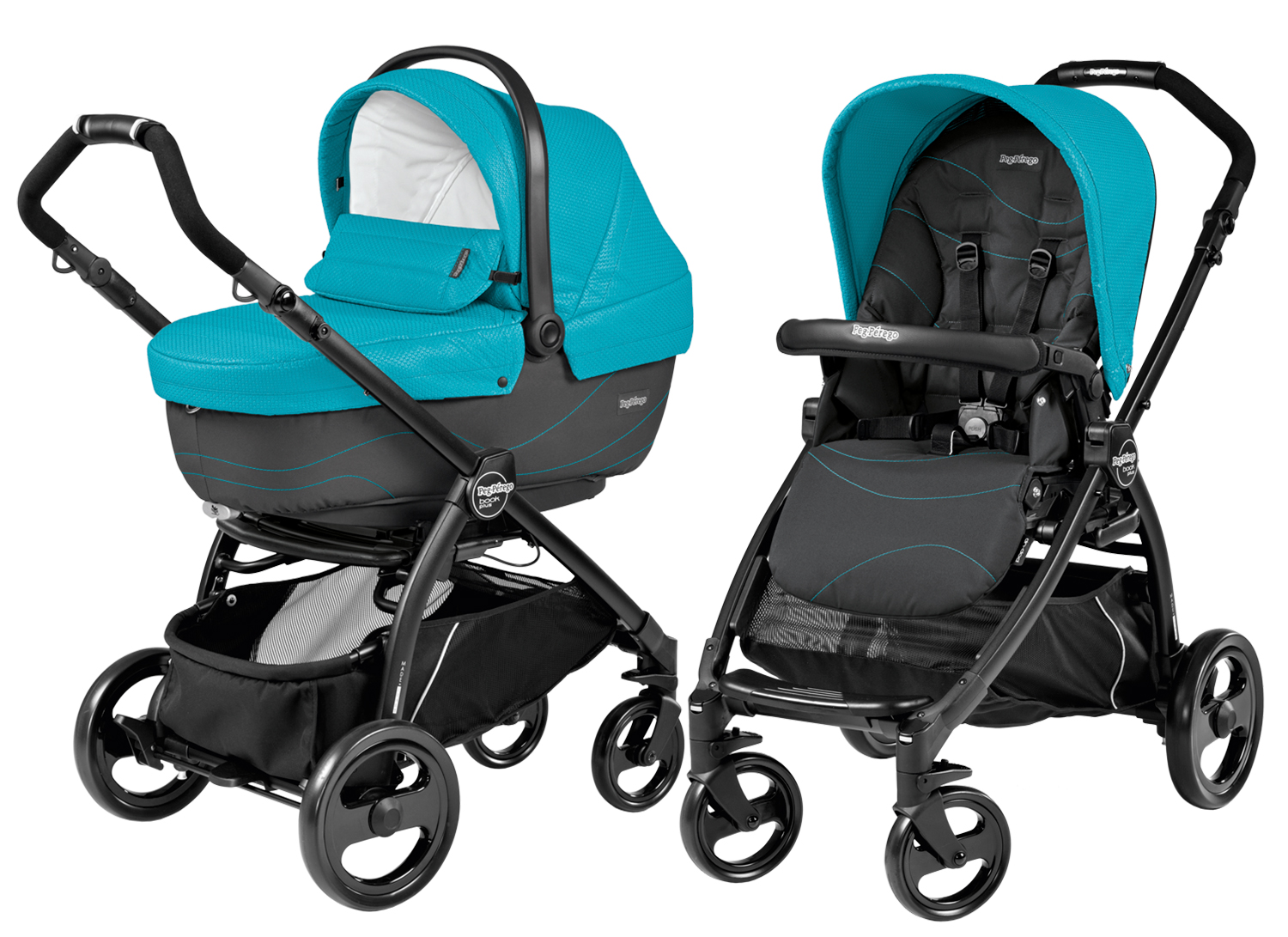 Коляска 2 в 1 Peg Perego Book Plus XL Modular Bloom Scuba