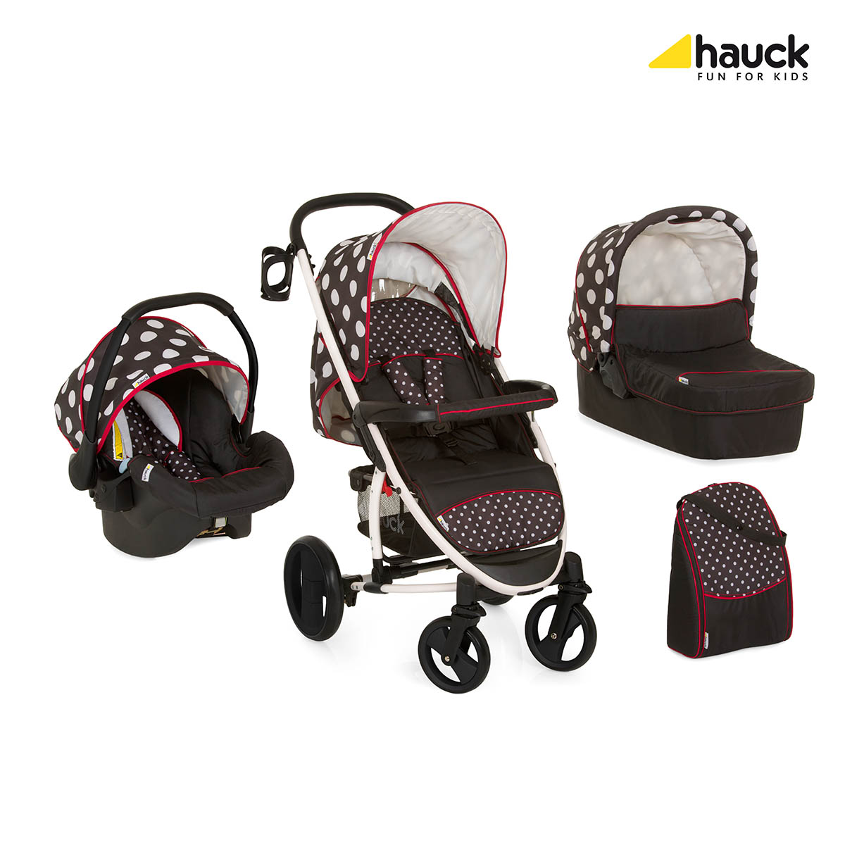 Hauck Malibu XL All in One one dots black