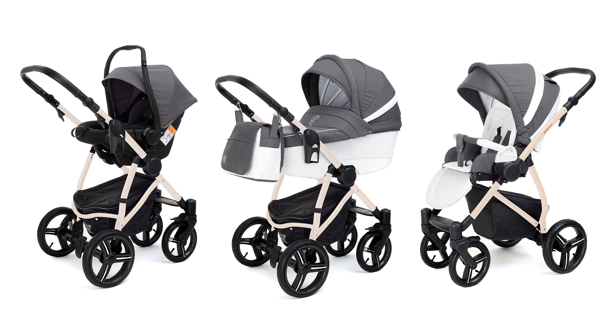 Коляска 3 в 1 Esspero Grand Newborn Lux (шасси Beige) Diamond