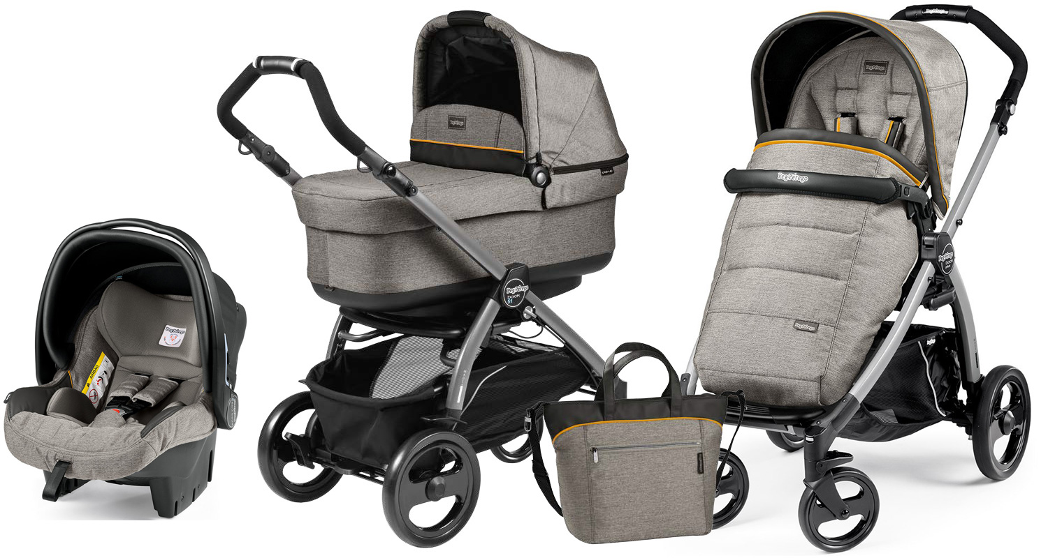 Peg-Perego Book Plus S Pop Up Set Modular Luxe Grey