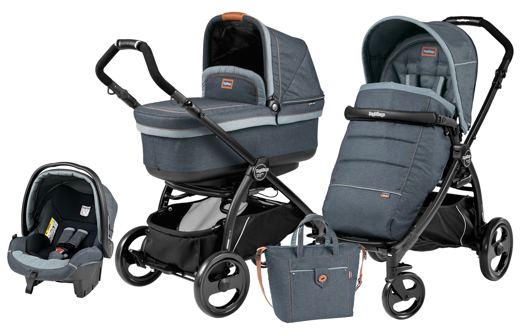 Peg-Perego Book Plus Set Modular POP UP Blue Denim