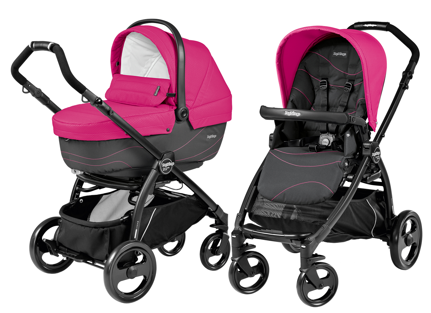 Коляска 2 в 1 Peg Perego Book Plus XL Modular Bloom Pink