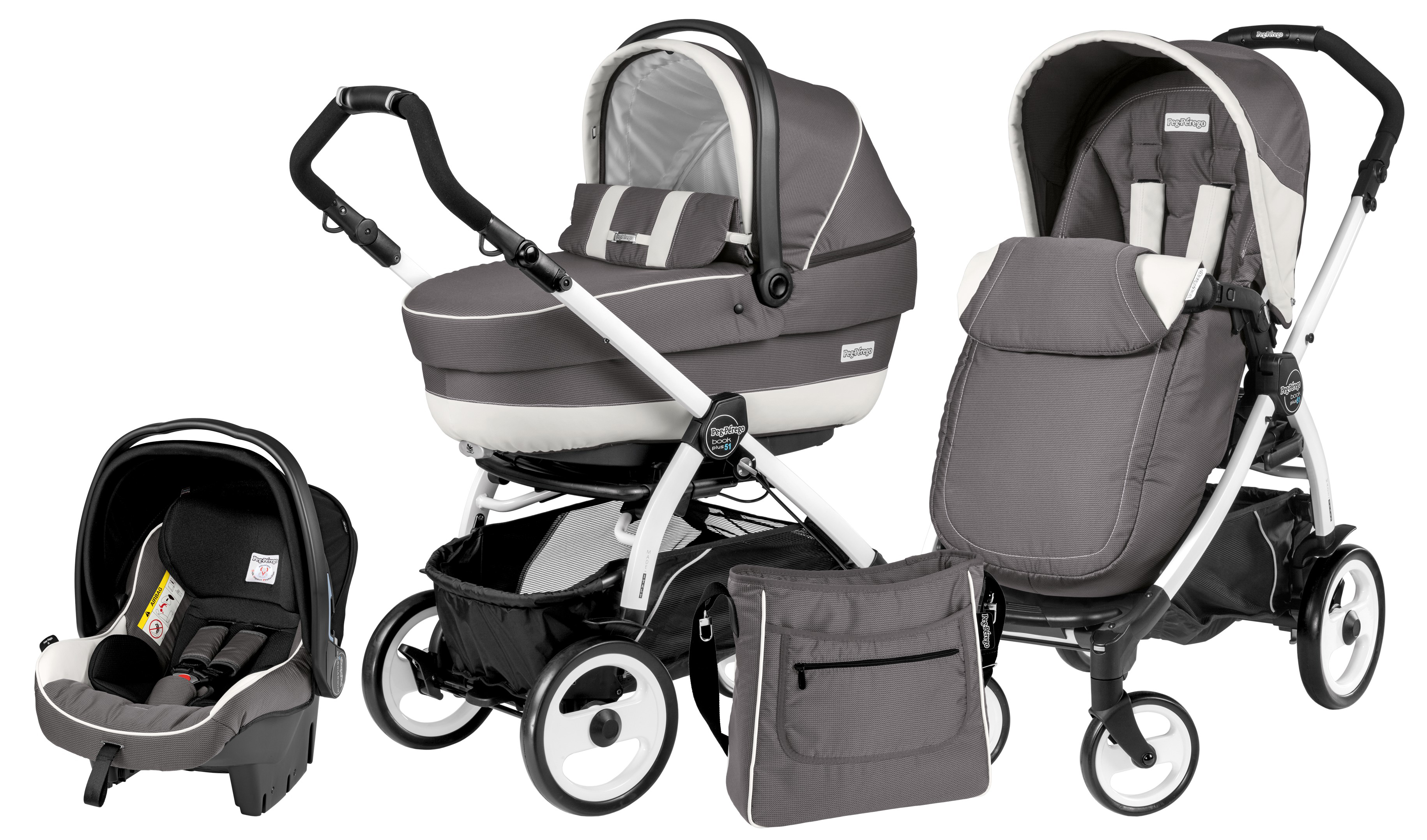 Коляска 3 в 1 Peg Perego Book Plus XL Set Modular Piccadilly