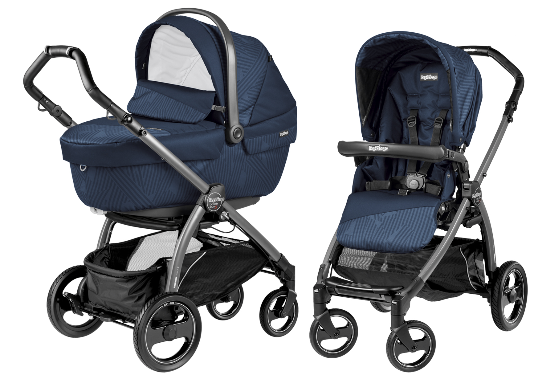 Коляска 2 в 1 Peg-Perego Book Plus S Geo Navy