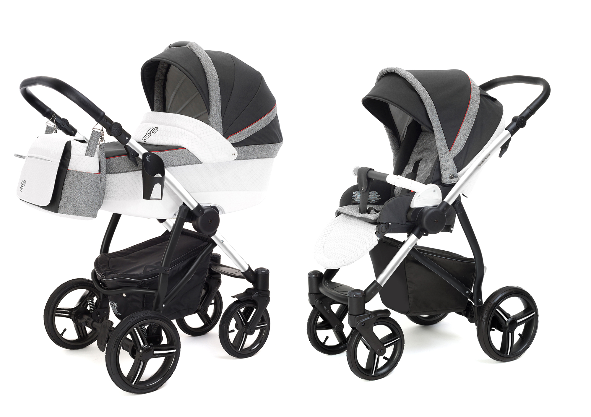 Коляска 2 в 1 Esspero Grand Newborn Lux (шасси Chrome) Royal Grey