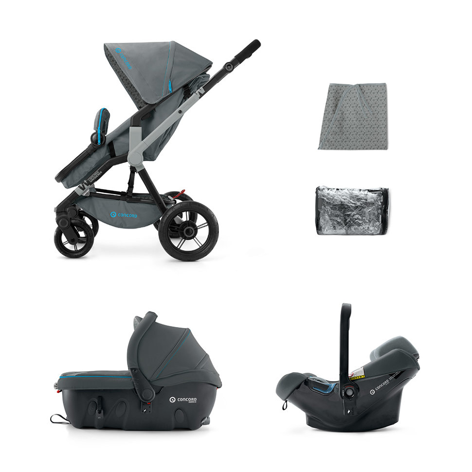 Concord Wanderer Travel Set Air Stone Grey