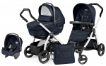 Коляска 3 в 1 Peg Perego Book S XL Set Modular (шасси White/Black)