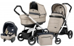 Коляска 3 в 1 Peg Perego Book S Pop Up Set Modular (шасси White/Black)