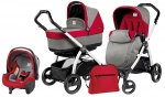 Коляска 3 в 1 Peg Perego Book S Pop Up Modular System (шасси White/Black)