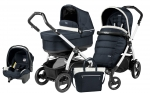 Коляска 3 в 1 Peg Perego Book 51 S Pop Up Set Modular (шасси White/Black)