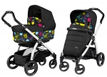 Коляска 2 в 1 Peg Perego Book S Pop Up Combo (шасси White/Black)