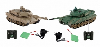 Танк в наборе YAKO (Бой р/у танка M1A2 и ДОТа, Масштаб 1:24)