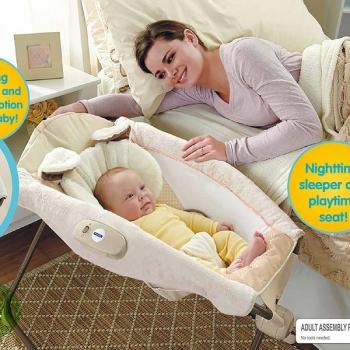 Детский шезлонг-кроватка с вибрацией Fitch Baby Rock Playing Sleeper