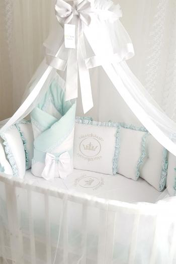 Комплект постельного белья Eco Line Amanda (круглая кроватка)