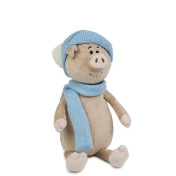 Мягкая игрушка Maxi Toys Кабан Вася в Шапке и Шарфе, 22 см