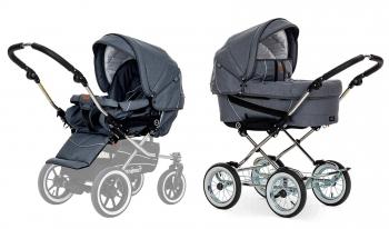 Детская коляска 2 в 1 Emmaljunga Edge Duo Combi Lounge (шасси Classic Chrome)