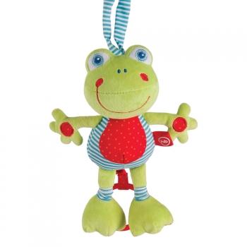 Подвесная музыкальная игрушка-растяжка Happy Baby Лягушка