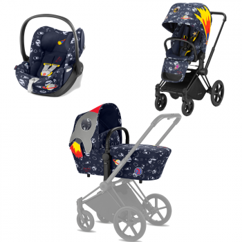 Коляска 3 в 1 Cybex Priam Anna K Space Rocket