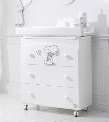 Комод пеленальный с ванночкой Baby Expert Snoopy