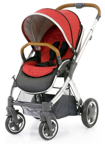 Прогулочная коляска Oyster 2 + Colour Pack (шасси Chrome/Brown)