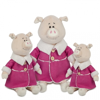 Мягкая игрушка Maxi Toys Свинка Глаша в Дубленке