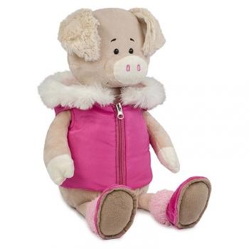 Мягкая игрушка Maxi Toys Свинка Даша в Модной Жилетке, 21 см