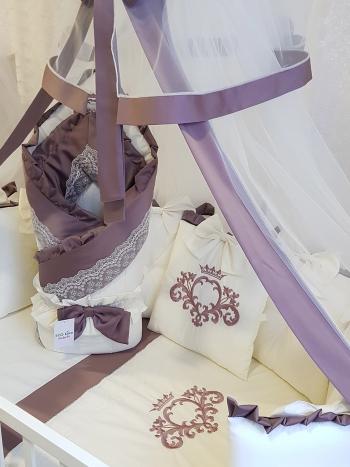 Комплект постельного белья Eco Line Cherry (круглая кроватка)