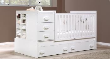 Детская кроватка-трансформер Trama Branco Mate серия Combi XL