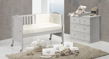 Комплект постельного белья Trama Classic Bear Cinza серия Classic
