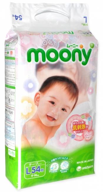 Подгузники Moony 9-14 кг. 54 шт. (L)