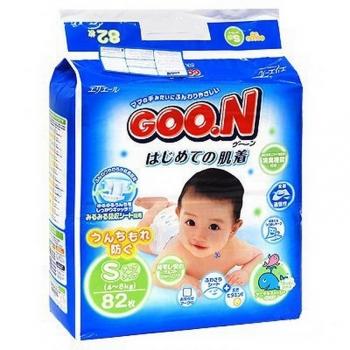 Подгузники Goon Гун 4-8 кг. 84 шт. (S)