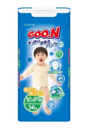 Трусики Goon Гун для мальчиков 12-20 кг. 36 шт. (BIG)