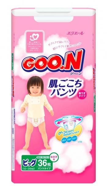 Трусики Goon Гун для девочек 12-20 кг. 36 шт. (BIG)