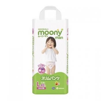 Трусики New Moony для девочек 9-14 кг. 42 шт. (L)