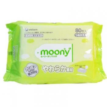 Салфетки влажные Moony сменная упаковка,80 штук