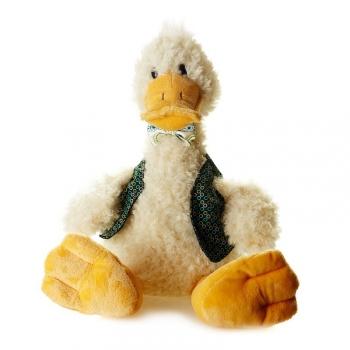 Мягкая игрушка Maxi Toys Утка Боря в Одежде Сидит 37 см