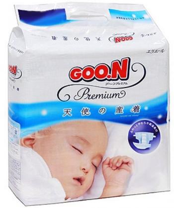 Подгузники Goon Premium Гун до 5 кг. 62 шт. (NB)