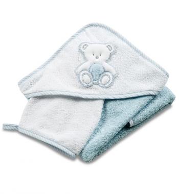 Махровое полотенце с капюшоном с вышивкой Italbaby PELUCHE (75*75 см), мочалка