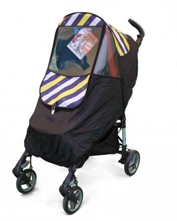 Дождевик для коляски универсал силикон / ткань (-15°С)